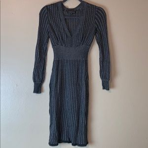 Express Design Studio grey sweater dress sz XS